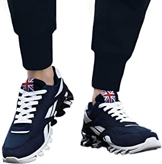 FidgetGear Men Casual Mesh Surface Sneakers British Flag Breathable Sports Shoes Outdoor Wear blue 39