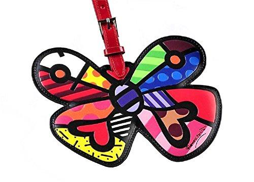 Romero Britto - Targhetta per bagaglio, motivo: farfalla