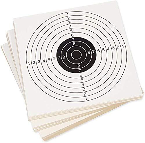 ARSUK Schießen Zielscheiben Papiers für Luftgewehr Pistole T1 14x14cm - 100er Pack