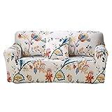 Funda elástica para sofá, antideslizante, suave, lavable, protector de muebles para sillón, sofá (1 plaza), color blanco