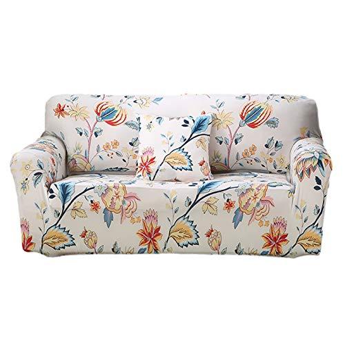 Stretch-Sofa-Schonbezug, rutschfest, weich, waschbar, Möbelschutz, Sofabezug für Sessel, Loveseat Couch, Sofa (1-Sitzer, weiß)