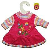 2 tlg. Set Puppenkleidung Kleid + Shirt Gr. 28 - 33 cm rosa Kleidung Bekleidung