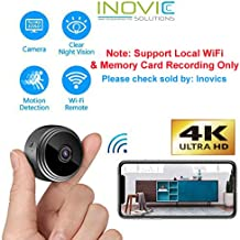Inovics Mini 1080P HD Small Wireless Home Security Surveillance Video Recording Hidden Spy Camera with Night Vision, Motion Detection, Voice Recorder, Remote View for iPhone/Android Phone/iPad/PC