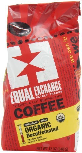 EQUAL EXCHANGE ORGANIC COFFEE: DECAF WHOLE Great Colorado Springs Mall interest OUNCE B 12 6 BEAN -