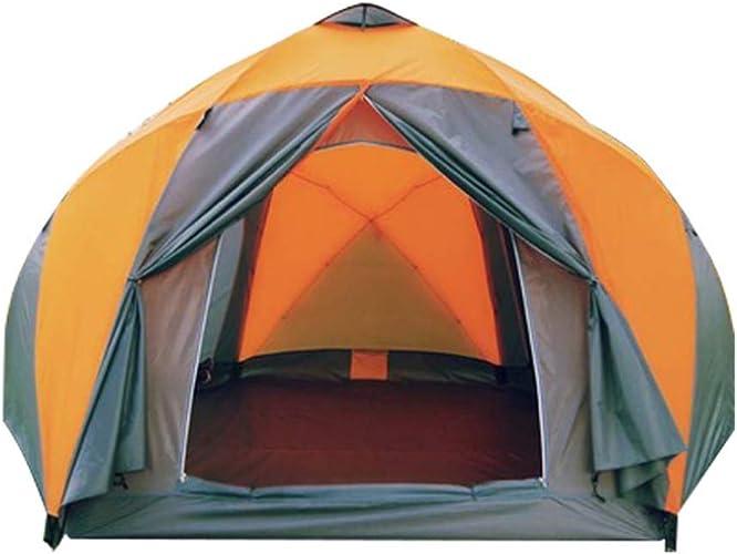 GFF LA6 Yourte Tente 8-10 Personnes Double Tente de Camping étanche à la Pluie Alpinisme en Plein air Plage Super Tente