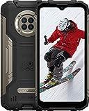 DOOGEE S96 Pro 8GB RAM + 128GB ROM Movil Libre, Cámara Cuádruple 48MP, Visión Nocturna + Frontal 16MP, 6350mAh Smartphone 4G, Android 10, 6.22 Inch, NFC, GPS, IP68 IP69K Móvil Resistente, Negro
