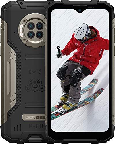 DOOGEE S96 Pro 8GB RAM+128GB ROM Smartphone Robusto, Fotocamera Quadrupla 48 MP, Visione Notturna 20 MP+Frontale 16 MP, Cellulari Offerte 4G, 6350 mAh Android 10 6,22 pollici, NFC, IP68 IP69K, nero