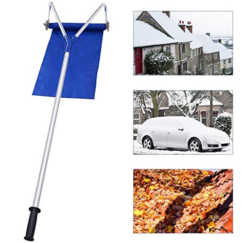 For Sale! CHSSC Winter Roof Snow Rake Shovel 20 Ft Adjustable Telescoping Handle Rooftop Snow Ice Re...
