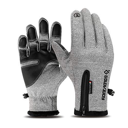 LATEC Fahrradhandschuhe, Touchscreen-Handschuhe Wasserdicht & Winddicht Wärmehandschuhe rutschfest Warme Winterhandschuhe Outdoor Laufen...