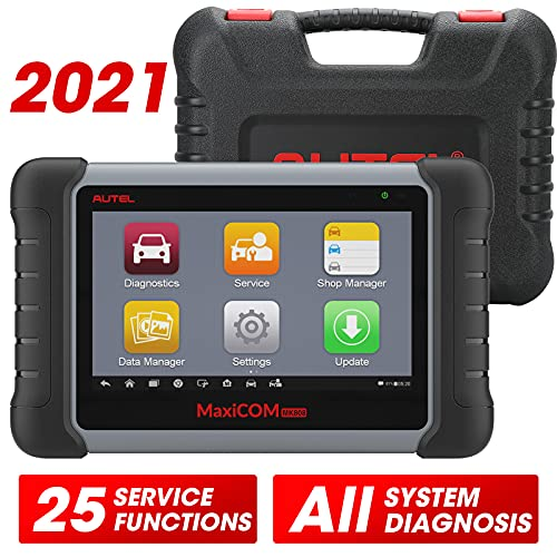 Autel Scanner MaxiCOM MK808, 2021 Auto Scanner for All Cars with All System Diagnostic, 25+ Service Functions, IMMO, Oil Reset, EPB, SAS, ABS Bleed, Same as MX808, Updated from MaxiCheck Pro & MD802