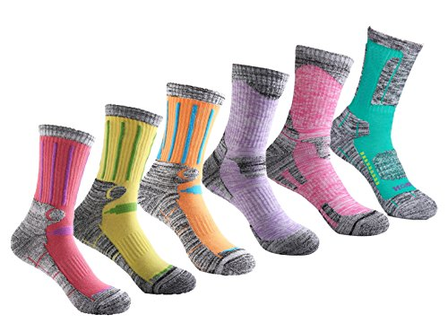welltree Women's Hiking / Skiing / Trekking Socks Multi Performance Outdoor Sport Socks Ankle - Combination 1 - 6 Pairs