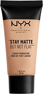 NYX PROFESSIONAL MAKEUP Stay Matte But Not Flat Liquid Foundation, Soft Beige, 1.18 Ounce