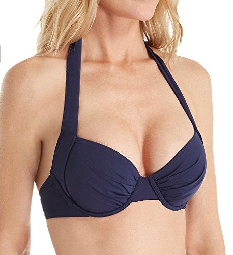 Tommy Bahama Pearl Underwire Halter Bikini Top Mare Navy Women's Bra