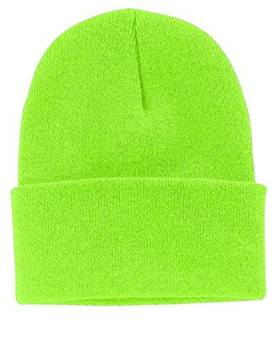 Port & Company Men's Knit Cap OSFA Neon Green