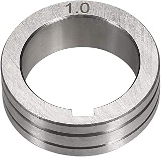 uxcell Welder Wire Feed Drive Roller 0.8-1.0mm Groove Roll Part for Welding Machine Tool
