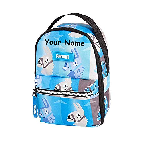 The Trendy Turtle Personalized Loot Llama Print Insulated Back to School Lunchbox Lunch Bag with Custom Name