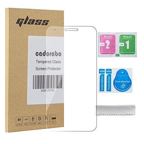 Cadorabo Panzerglasfolie für Alcatel PIXI 3 (5.5 Zoll) - Schutzfolie in KRISTALL KLAR - Gehärtet (Tempered) Bildschirmschutz Glas in 9H Festigkeit mit 3D Touch Kompatibilität