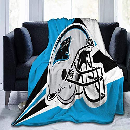 Throw Blankets Cozy Flannel Fleece Warm Bed Plush Blanket Lightweight Bed for Men Women Kids Pan-thers