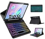 IVSO Hintergr&beleuchtete Tastatur Hülle für Samsung Galaxy Tab S6 10.5, [QWERTZ Deutsches], Schutzhülle mit magnetisch abnehmbar Tastatur für Samsung Galaxy Tab S6 SM-T860/T865 10.5 2019, Oil
