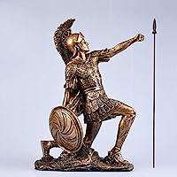 家の装飾ヨーロッパスタイルのレトロな家の装飾オフィスのデスクトップの装飾、樹脂の彫像、キャラクターの抽象的な彫刻、芸術品や工芸品の装飾品の彫像家やオフィスの装飾の富と