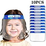 Luckylin Kids Reusable Face Protection_Shields,Protective Full Face Transparent Visor,Anti-Fog, Ultra-Clear, US Stock, One Size Fits All