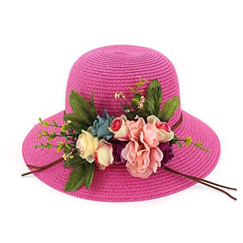 LUZIWEN Fashion 2019 Basin Cap Sombrero de Pescador Señora Playa Grande a...