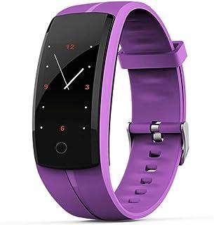 QCHNES Bluetooth Reloj Inteligente, Hombres Mujeres Deportes Gimnasio Impermeable Presión Arterial Pulsera Inteligente, Múltiples Modos De Deportes, para Teléfono iPhone Android