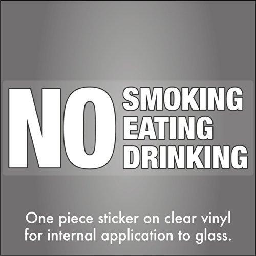 stika.co Sticker pour fenêtre intérieure de taxi avec inscription NO Smoking Eating Drinking