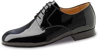 Werner Kern Hommes Chaussures de Danse 28040 - Vernis Noir - Large - 2 cm Ballroom