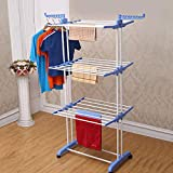 AllRight Folding Hanger Dryer Stand Rack Powder Coated Tube Indoor Outdoor Laundry