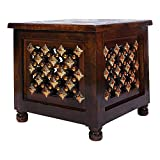 About this item Perfect for Living Room and Bedroom Furniture Colour - Brown Size - 12 Inch Handcrafted & Elegant Product Finish, No machine is used, a complete handcrafted stool for your decor collections Use for living room, guest room, study room,...