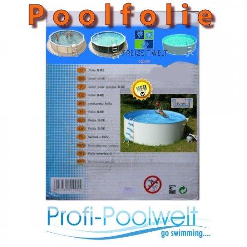 Pool-Innenfolie für ovale Pools 720 x 360 x 120 cm Höhe