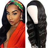 Glueless Wigs Human Hair Pre Plucked Body Wave Headband Wig No Lace Wig 180% Density Malaysian Natural Hair Wet And Wavy Silky And Soft Full Hair Wig Cheap Same Day Delivery 1B 18 Inch …