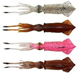 Savage Gear TPE Swim Squid - Tintenfisch Imitation Meeresköder, Farbe:Brown UV, Länge / Gewicht / Packungsinhalt:25cm / 110g / 1 Stück