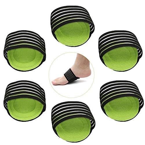 6 Stk Gel Fußbandagen Fußgewölbe Bandage Einlegesohlen Fuß Schutz,Vorfuß Fuß Ferse Schmerzen Relief Plantarfasziitis Plattfüße Hohlfüße Pflegen