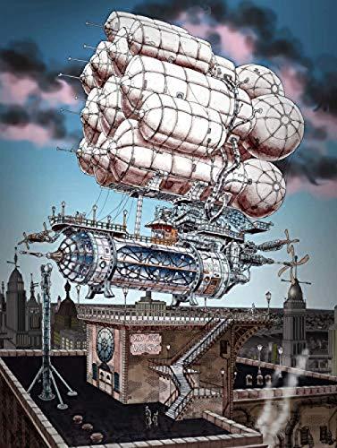 Houten puzzel 1000 stukjes Volwassen klassieke 3D-puzzel Cartoon Fantasie Vliegtuig Diy Moderne kunst Home Decor Uniek cadeau-75X50Cm