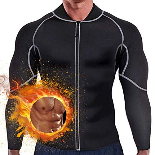 OLDSAN Fitness Slimming Jacket Men Sauna Neoprene Top Clothes for Core Muscle Training, Gym Top Clothes, Shapewear Long Sleeve 3