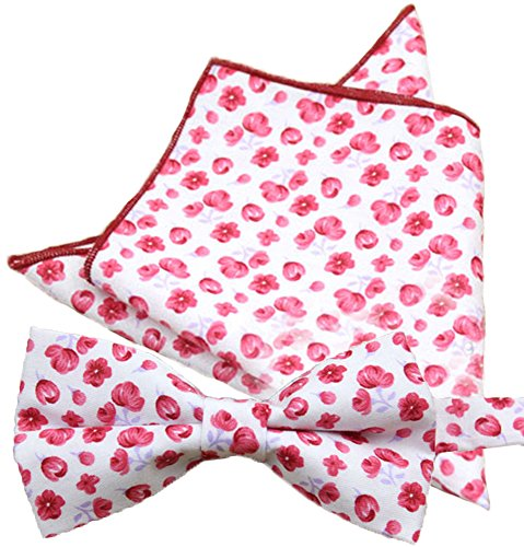 Flairs New York Floral Collection Bow Tie & Pocket Square Matching Set