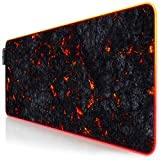 TITANWOLF - Tappetino per Mouse Gaming - 800 x 300 x 4 mm - XXL - LED Multi Colore - 7 Col...