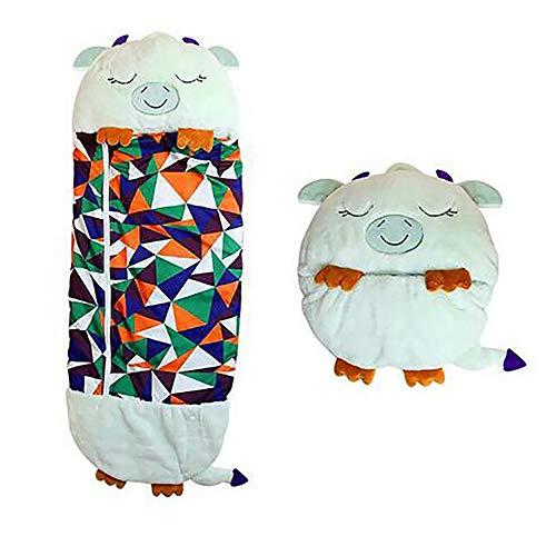 AYQX Niedliche Cartoon-Plüschkissen, Variable Schlafsäcke für Kinder, Super Weich und Warm, Sehr Geeignet für Pyjama-Partys, Innen- und Außenbereich,G