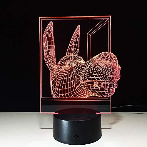 Led Usb Neue Schreibtischlampen mit Pferd 3d Lampe Neuheit Luminaria Led 3D-Leuchten Luminaria De Mesa Led Nachtlicht
