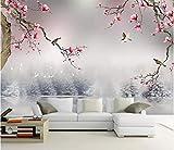 Papel Tapiz Mural Personalizado Estilo Chino Magnolia Flor Pájaros Sala De Estar Dormitorio 3d Papeles De Pared Decoración Del Hogar Ancho 250 cm * Altura 160 cm