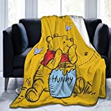 Gaodim Super Soft Edward Win-Nie Blanket, Light Plush Bed The P-ooh Bear Blanket, Suitable for Adults and Children to use 50'x40'