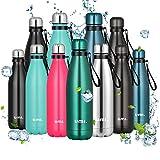Amazon Brand - Umi Botella Agua Acero Inoxidable, Termo 500ml, Sin BPA, Islamiento de Vacío de Doble...