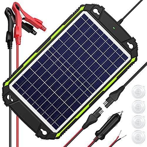 Sun Energise Pannello Solare Auto 12V 10W, Caricabatteria Batteria Solare Impermeabile, Controller di Carica MPPT Intelligente Integrato, per Auto, Barca, Moto, ATV, Casa Mobile, Camion