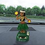 IGEMY – Danseuse hawaïenne à énergie solaire pour voiture, poupée animée se balançant F