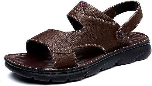 Herren Open Toe Casual Leder Komfort Schuhe Sandalen Sport Strand Schuhe