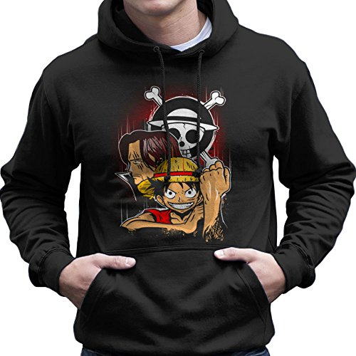 Pirate King Monkey D Luffy One Piece Men's Hooded...