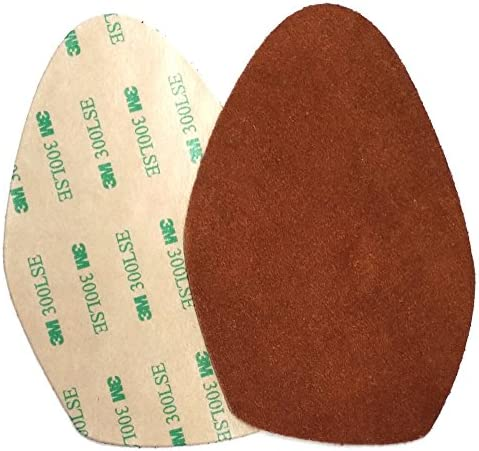 Stick on suede soles for high heeled shoes with industrial strength adhesive backing Resole product image