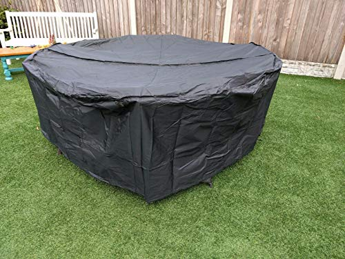 SpeedwellStar 210 cm Round Garden Table Hot Tub Large Cover Furniture Patio Fitted Circular Drawstring 4 - 8 Seat Dining Set Large Breathable Quality
